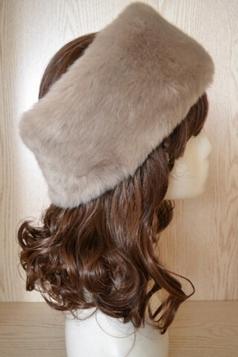 Khaki Faux Fur Headband Cossack Fashion Womens Hat