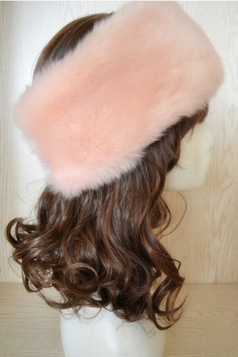 Pink Faux Fur Headband Cossack Fashion Womens Hat