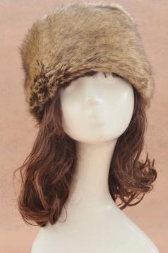 Khaki Ladies Warm Winter Cossack Faux Fur Hat