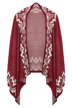 Ruby Ladies Long Sleeve Bohemian Patterned Cardigan Sweater