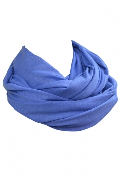Blue Fashion Ladies Single Jersey Plain Circular Scarf