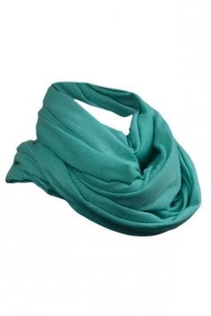 Green Fashion Ladies Single Jersey Plain Circular Scarf