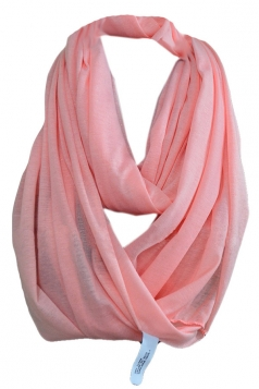 Pink Fashion Ladies Single Jersey Plain Circular Scarf