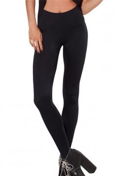 Black Womens Plain Slimming Fancy Leggings