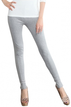 Gray Ladies Casual Modest Slimming Leggings
