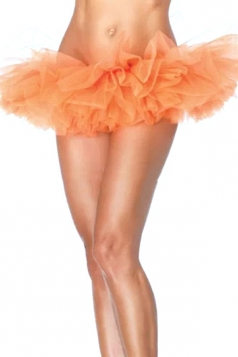 Orange Sexy Ladies Petticoat Tutu