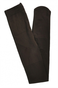 Coffee Sexy Ladies Oblique Stripes Jacquard Velvet Tights