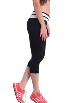 Khaki V High Waisted Sexy 3/4 Length Womens Leggings