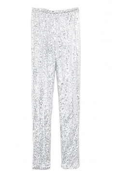 Leggings Sequined Fashion Womens Silvery