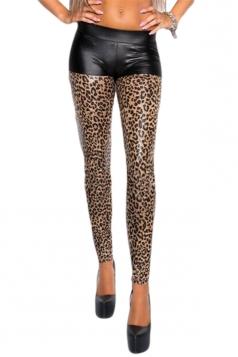 Sexy Fake Shorts Crop Jeans Leggings Yellow