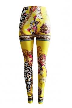 Sexy Seamless Fit Pants Leggings Yellow