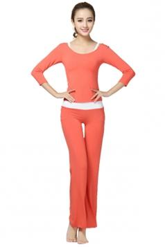 Orange Plain 3 Pieces Sweatshirt Suits