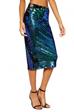 Green Ladies Sexy High Waisted Pencil Skirt