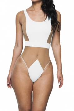 White Ladies Sexy See Through Mesh Monokini