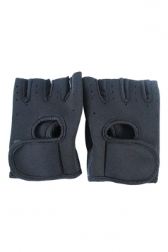 Black Color Blocking Punching Chic Womens Sports Gloves