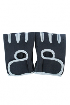Gray Color Blocking Punching Chic Womens Sports Gloves