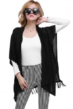 Black Fringe Charming Styliash Ladies Plain Cardigan Sweater