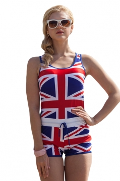 Blue Union Jack Flag Sexy Ladies Monokini