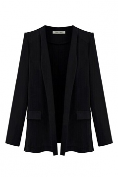Black Ladies Candy Color Plus Size Blazer