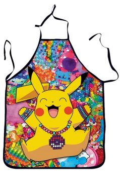 Yellow Cute Pikachu Printed Lovers Apron