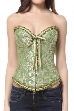 Green Ladies Sexy Plus Size Bridal Corset