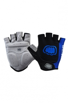 Blue Cadet Silicon Rubber Mountain Bike Gloves