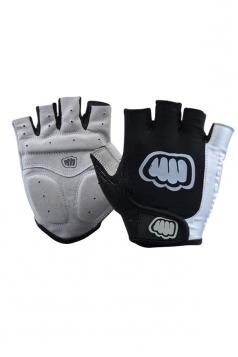 Gray Cadet Silicon Rubber Mountain Bike Gloves