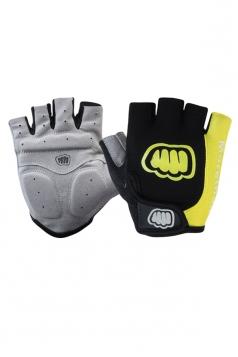 Yellow Cadet Silicon Rubber Mountain Bike Gloves