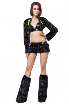 Black Sexy Chic Cat Womens Halloween Costume