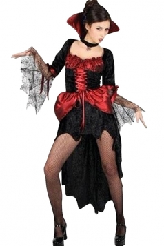 Red High Low Sexy Stylish Womens Halloween Vampire Costume