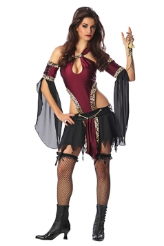 Ruby Off Shoulder Cut Out Sexy Womens Pirate Halloween Costume