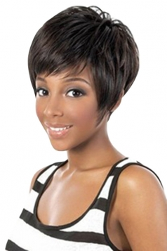 Black Pretty Cosplay Womens Short Hair Wig