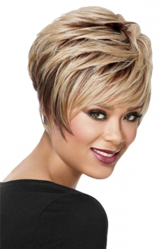 Brown Pretty Cosplay Womens Short Hair Wig
