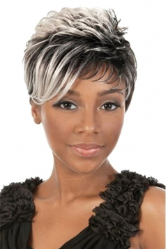 Gray Pretty Cosplay Womens Short Hair Wig