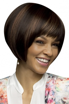 Brown Attractive Straight Cosplay Womens Short Hair Wig