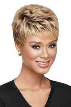 Chestnut Pretty Cosplay Womens Short Hair Wig