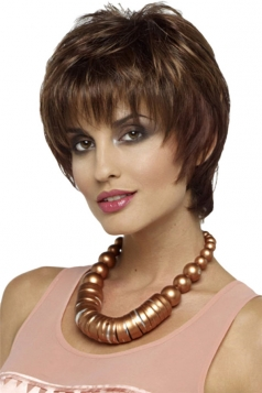 Brown Fashion Cosplay Ladies Short Hair Wig