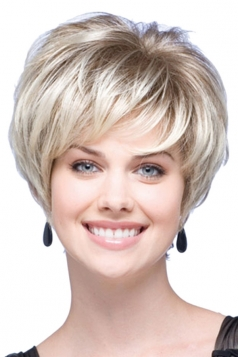 Silvery Pretty Fashion Cosplay Ladies Short Hair Wig