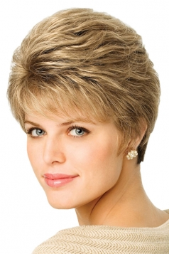Gold Pretty Fashion Cosplay Ladies Short Hair Wig
