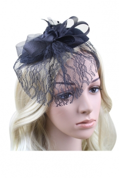 Black Rose Fashion Elegant Womens Hairclip with Veil