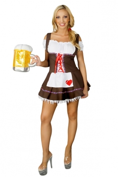 White Ladies Sexy Cosplay Beer Maid Costume