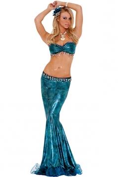 Blue Ladies Sexy Mermaid Fairytale Costume