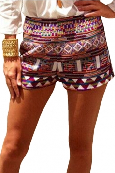 Rose Red Ladies National Floral Printed Shorts