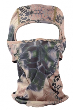 Chestnut Geometry Printed Covered Half Face Ski Mask