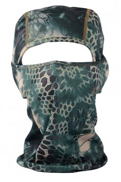 Turquoise Geometry Printed Covered Half Face Ski Mask