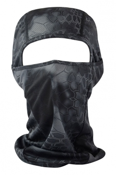 Gray Geometry Printed Covered Half Face Ski Mask