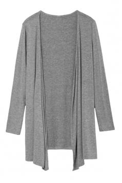 Womens Slimming Long Sleeve Cardigan Gray