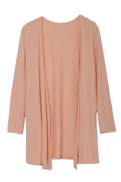Womens Slimming Long Sleeve Cardigan Pink