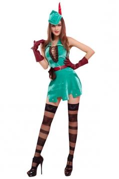 2015 Girls Sexy Greenwood Robin Hood's Halloween Folk Costume Yellow