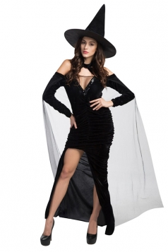 Womens Good Gothic Witch Adult Halloween Costume Black
